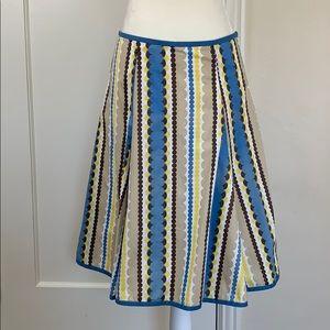 Boden midi skirt graphic dot print